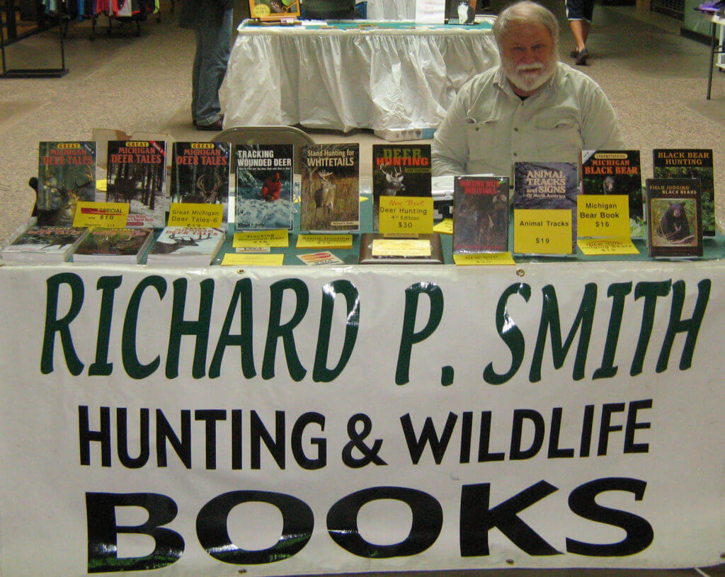 Richard P. Smith book signing his whitetail deer, black bear, hunting and wildlife books and DVDs.